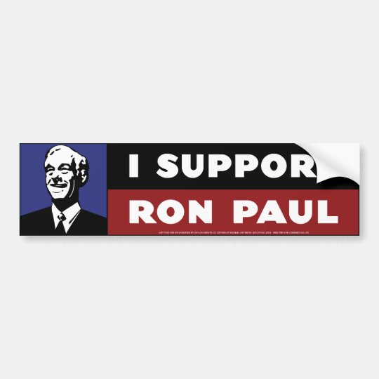 I Support Ron Paul - Blue Bumper Sticker