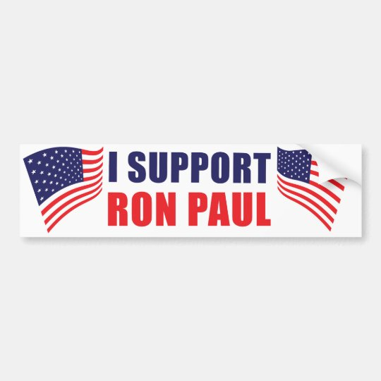 I Support Ron Paul Bumper Sticker