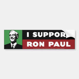 I Support Ron Paul - Green Bumper Sticker