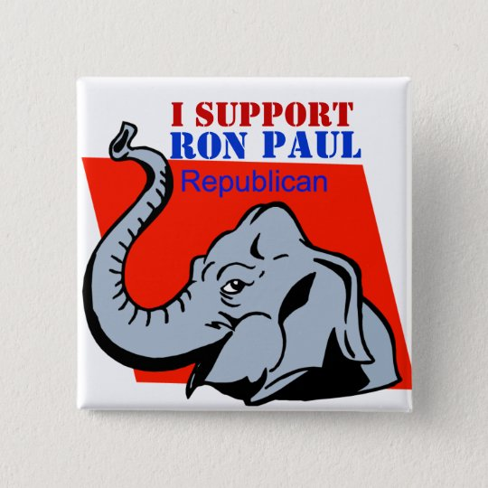 I SUPPORT RON PAUL POLITICAL BUTTON