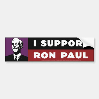 I Support Ron Paul - Purple Bumper Sticker