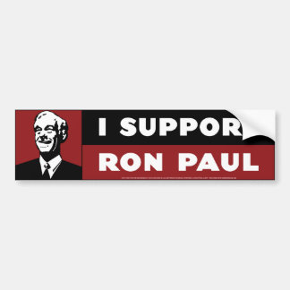 I Support Ron Paul - Red Bumper Sticker