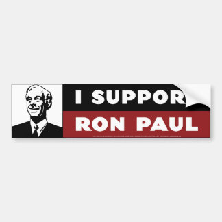 I Support Ron Paul - White Bumper Sticker