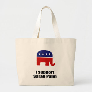 I support Sarah Palin Tote Bags