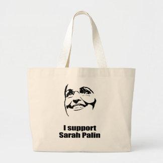 I support Sarah Palin Canvas Bag