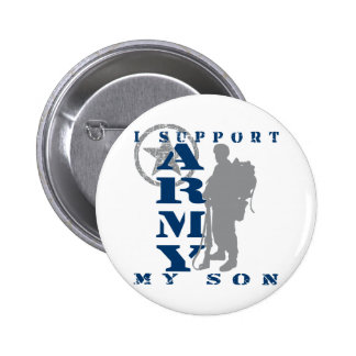I Support Son 2 - ARMY 6 Cm Round Badge
