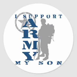 I Support Son 2 - ARMY Classic Round Sticker