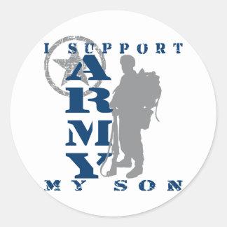 I Support Son 2 - ARMY Round Sticker
