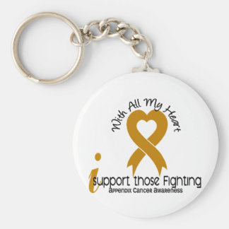 I Support Those Fighting Appendix Cancer Basic Round Button Key Ring