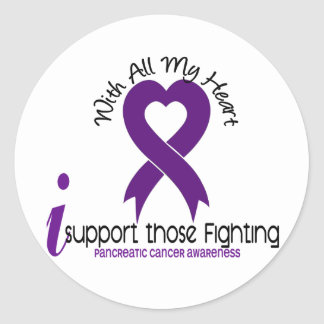 I Support Those Fighting Pancreatic Cancer Round Stickers