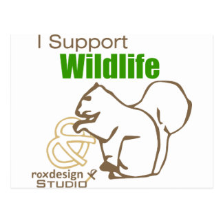 I Support Wildlife Postcards