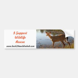 I Support Wildlife Rescue Rescued Deer Bumper Stic Bumper Sticker