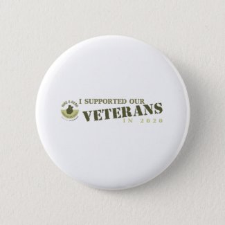 I Supported Our Veterans in 2020 6 Cm Round Badge