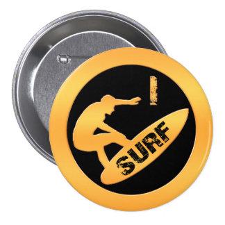 I Surf 7.5 Cm Round Badge