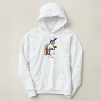 I Surf Embroidered Hoodie