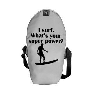 I Surf What s Your Super Power Messenger Bag
