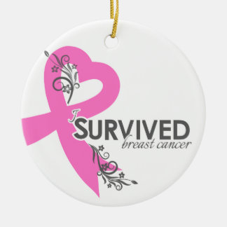 I Surived Breast Cancer Christmas Ornament