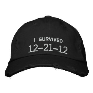I SURVIVED 12-21-12 EMBROIDERED HATS