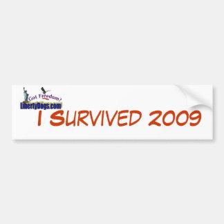 I Survived 2009 Bumper Sticker