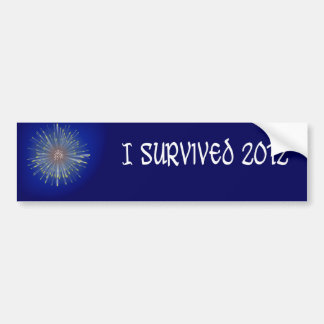 """I Survived 2012"" Bumper Sticker. Bumper Sticker"