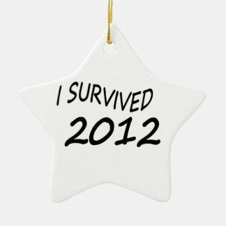 I Survived 2012 Ceramic Star Decoration