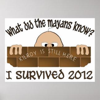 """""""I Survived 2012"""" Poster"""