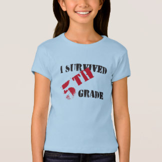 I Survived 5th Grade Girl's Light Tee