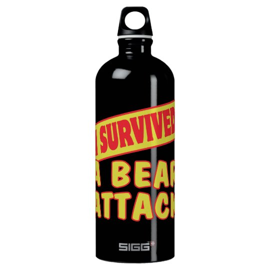 I SURVIVED A BEAR ATTACK WATER BOTTLE