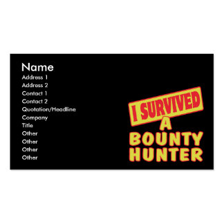 I SURVIVED A BOUNTY HUNTER BUSINESS CARD TEMPLATE