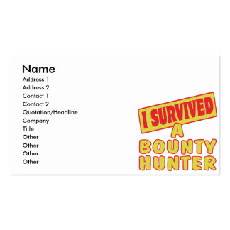 I SURVIVED A BOUNTY HUNTER PACK OF STANDARD BUSINESS CARDS