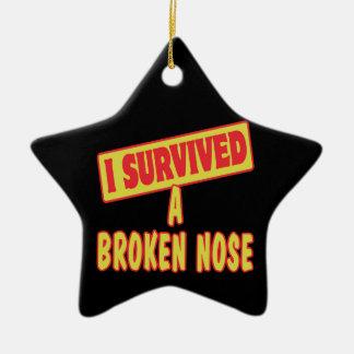 I SURVIVED A BROKEN NOSE CERAMIC STAR DECORATION