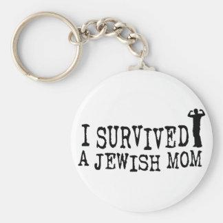 I Survived a Jewish mom - Jew humor Key Ring