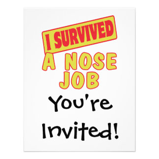 I SURVIVED A NOSE JOB CUSTOM ANNOUNCEMENTS