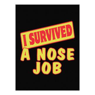 I SURVIVED A NOSE JOB INVITATIONS