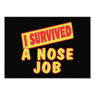 I SURVIVED A NOSE JOB PERSONALIZED ANNOUNCEMENTS