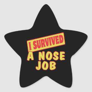 I SURVIVED A NOSE JOB STAR STICKER