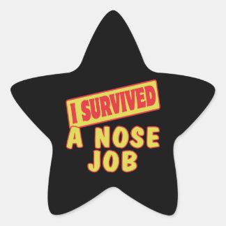 I SURVIVED A NOSE JOB STAR STICKER
