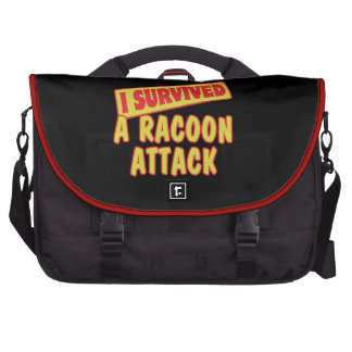 I SURVIVED A RACOON ATTACK LAPTOP BAGS