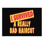 I SURVIVED A REALLY BAD HAIRCUT 13 CM X 18 CM INVITATION CARD