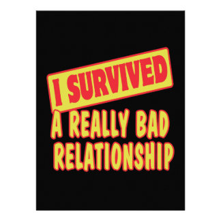 I SURVIVED A REALLY BAD RELATIONSHIP INVITATION