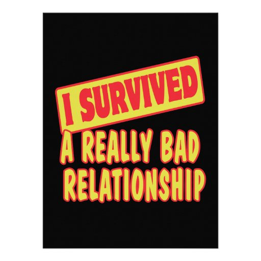 I SURVIVED A REALLY BAD RELATIONSHIP INVITATION