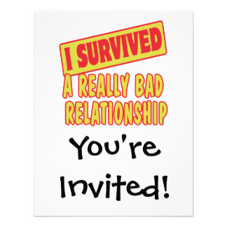 I SURVIVED A REALLY BAD RELATIONSHIP PERSONALIZED INVITE