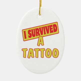 I SURVIVED A TATTOO CERAMIC OVAL DECORATION