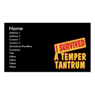 I SURVIVED A TEMPER TANTRUM Double-Sided STANDARD BUSINESS CARDS (Pack OF 100)