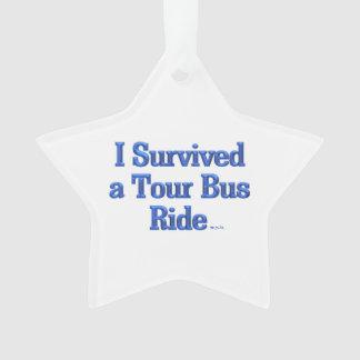 I Survived a Tour Bus Ride star Christmas ornament