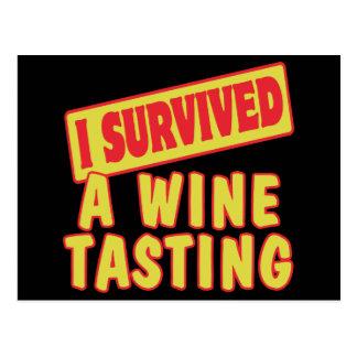 I SURVIVED A WINE TASTING POSTCARD