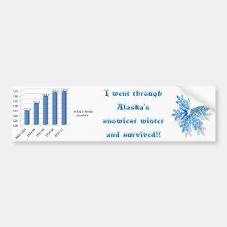 I survived Alaska's snowiest winter bumper sticker