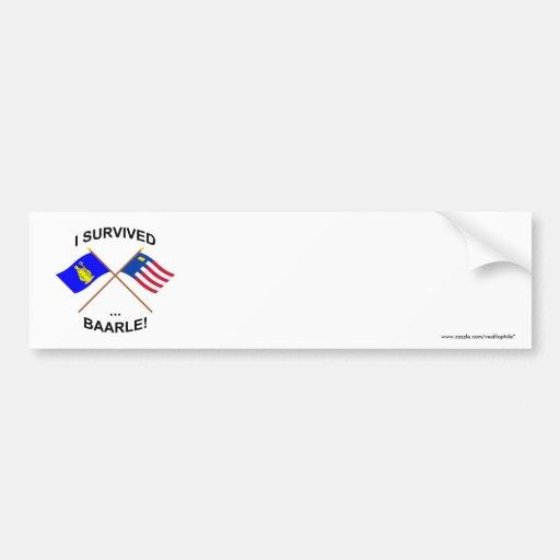 I Survived Baarle-Hertog and Baarle-Nassau Bumper Stickers