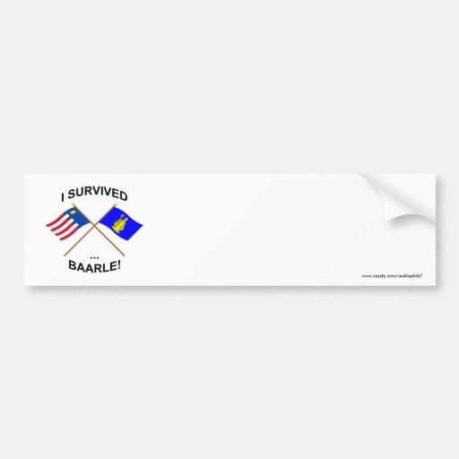 I Survived Baarle-Nassau and Baarle-Hertog Bumper Sticker