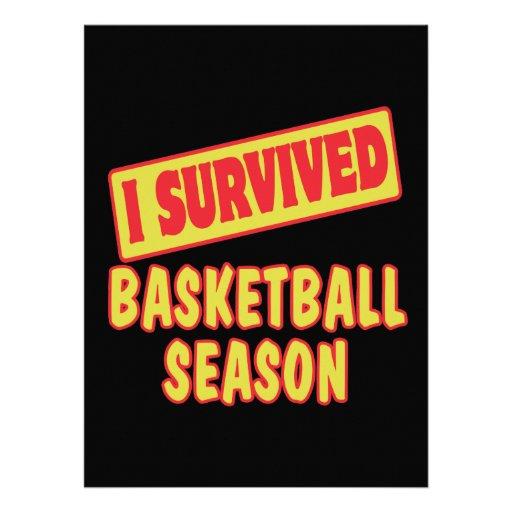 I SURVIVED BASKETBALL SEASON ANNOUNCEMENTS